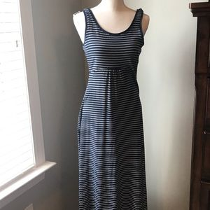 Columbia blue striped maxi dress